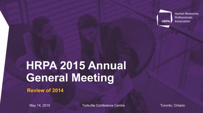 HRPA 2015 Annual Meeting