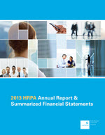 2013 HRPA Annual Report & Summarized Financial Statements Report Cover