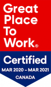 Great Place to Work Logo for March 2020 to March 2021
